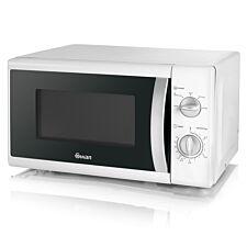 Swan SM40010N 20L 800W Solo Manual Microwave - White