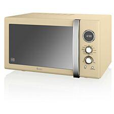 Swan Retro 900W 25L Combi Microwave - Cream