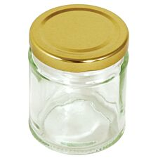 Tala Round Glass Preserving Jar with Gold Lid