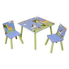Liberty House Toys Kids Safari Square Table & 2 Chairs Set