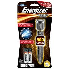 Energizer Vision HD Performance LED Torch with 2 AA Batteries