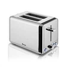 Swan ST14062N 2-Slice Polished Stainless Steel Toaster - Silver