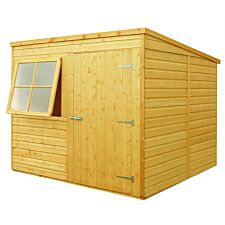 Shire 7ft x 7ft Wooden Pent Garden Shed