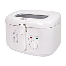 Quest 35130 2.5L Deep Fat Fryer with Removable Lid – White