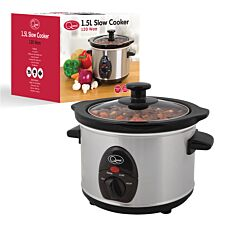 Quest 1.5L Slow Cooker - Stainless Steel