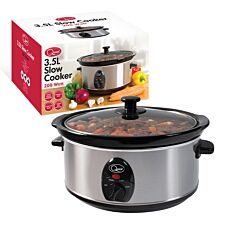 Quest 3.5L Slow Cooker - Stainless Steel