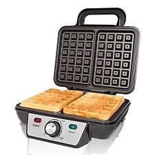Quest 35950 1000W 2–Slice Waffle Maker – Black