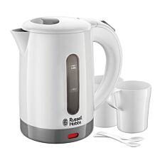 Russell Hobbs 1000W White Travel Kettle
