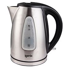 Igenix 1.7L Brushed Stainless Steel Cordless Jug Kettle