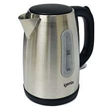 Igenix 1L Brushed Stainless Steel Cordless Jug Kettle