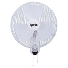 Igenix DF1656 16-Inch Wall Mounted Fan - White