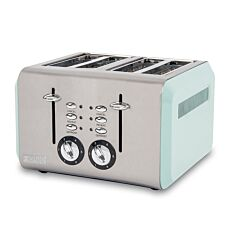 Haden 183774 Cotswold 1960W 4–Slice Toaster – Sage/Mint