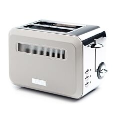 Haden Cotswold 2-Slice Toaster - Putty/Stainless Steel