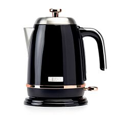 Haden Salcombe 1.7L Kettle - Black with Copper Detail
