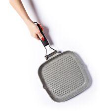MasterClass 24cm Cast Aluminium Grill Pan