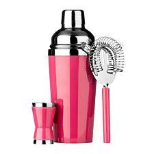 Premier Housewares 3 Piece Cocktail Set - Hot Pink