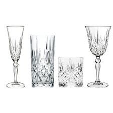 RCR Melodia Luxion Crystal Drinkware Collection - 24 Piece