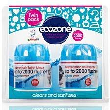 Ecozone Forever Flush Toilet Block - Twin Pack