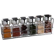 Sabichi 6-Piece Spice Rack and Jars