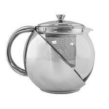 Robert Dyas Glass Stainless Steel 900ml Tea Pot
