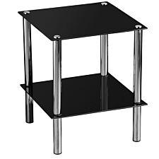 Premier Housewares 2 Tier Side Table - Black