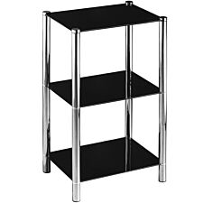 Premier Housewares 3 Tier Tall Shelf Unit - Black
