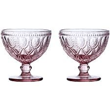 Premier Housewares Fleur Pink Sundae Dishes - Set of 2