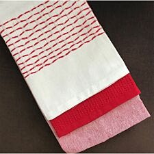 Le Chateau Red Waffle Tea Towel - Pack of 3