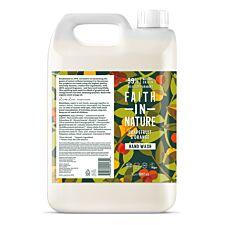 Faith In Nature Grapefruit and Orange Hand Wash Refill - 5L