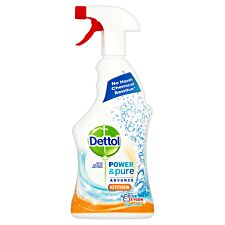Dettol Power & Pure Antibacterial Kitchen Spray - 750ml
