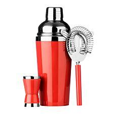 Premier Housewares 3 Piece Cocktail Set - Red