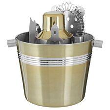 Premier Housewares Brushed Brass Bar Set - 7 Piece