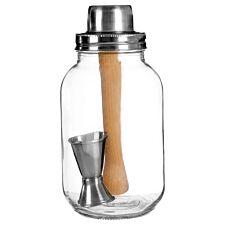 Premier Housewares Glass Cocktail Jar - 3 Piece