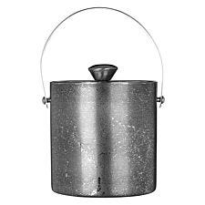 Premier Housewares Ice Bucket with Lid - Stainless Steel