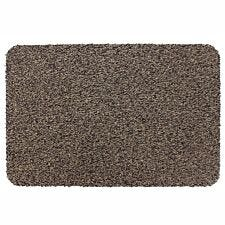 JVL 50 x 75cm Tanami Barrier Washable Door Mat - Brown