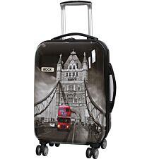 Rock 55cm Montana Expandable 8 Wheel Hard Shell Spinner Suitcase - Tower Bridge