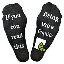 "Flo Socks ""Bring Me A Tequila"" - Black"