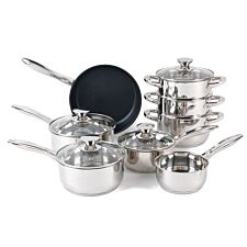 Russell Hobbs Classic Collection Stainless Steel Pan Set - 8 Piece
