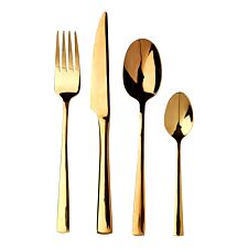 Premier Housewares 16-Piece Avie Glow Stainless Steel Cutlery Set - Gold