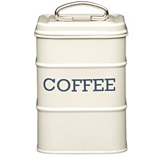 KitchenCraft Living Nostalgia Coffee Canister - Cream
