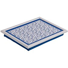 Premier Housewares Rose Lap Tray - Blue