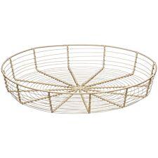 Premier Housewares Wire Bread Basket - Cream