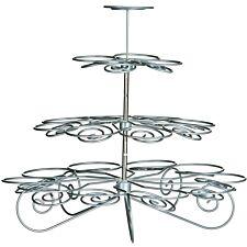 Premier Housewares 4 Tier Cupcake Stand - Silver