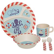 Premier Housewares 5-Piece Pirate Kids Dinner Set - Multi