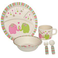 Premier Housewares 5-Piece Eden Elephant Kids Dinner Set