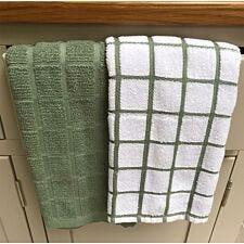 Le Chateau Terry Tea Towel Pair - Green
