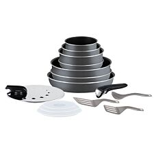 Tefal Ingenio Minute 15 Piece Cookware Set - Anthracite Grey