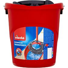 Vileda SuperMocio Torsion Floor Mop Bucket and Power Press Wringer