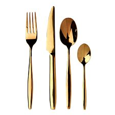Premier Housewares 16-Piece Avie Stainless Steel Cutlery Set - Gold