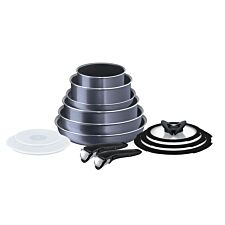 Tefal Ingenio Elegance 13-Piece Complete Cookware Set - Grey